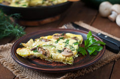 Frittata Royalty Free Stock Photo