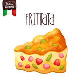 Frittata. Omelette with tomato, zucchini. Stock Images