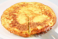 Frittata with onion, omelet Stock Photography