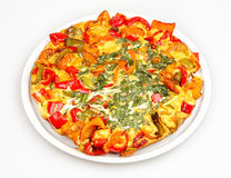Frittata with peppers Stock Photography