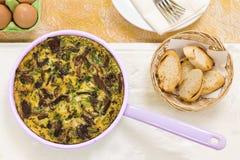 Frittata sauvage de champignon Photos stock