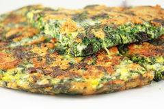 Frittata with spinach Stock Image