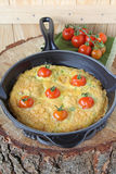 Frittata with tomatoes Stock Images