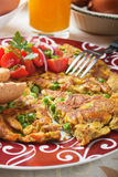 Frittata with vegetables Royalty Free Stock Photography