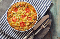 Frittata with Vegetables and Chicken Stock Images