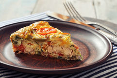 Frittata with Vegetables and Chicken Stock Photography