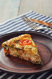 Frittata with Vegetables and Chicken Stock Photos