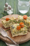 Frittata with Zucchini, Cheese and Dill Royalty Free Stock Photo