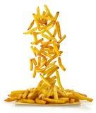 Fritte di Cascata di patatine Fotografia Stock Libera da Diritti