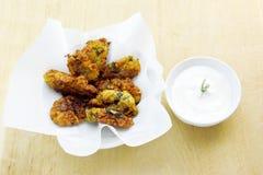 Frittelle greche dello zucchini Fotografia Stock