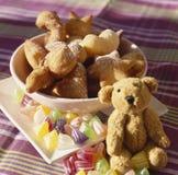 Frittelle ripiene dolci Fotografia Stock