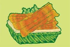 Frittelle ripiene fritte della pasta Fotografie Stock