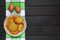 Fritters ή τηγανίτες πατατών Στοκ Εικόνα