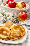 Fritters της Apple Στοκ Εικόνες