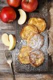 Fritters της Apple Στοκ Φωτογραφία