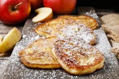 Fritters της Apple Στοκ Εικόνα