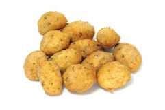 Fritters. A few fritters isolated on a white background Royalty Free Stock Images