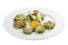 Fritters of broccoli royalty free stock photo