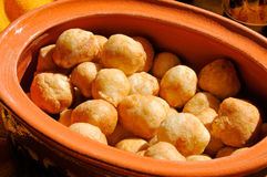 Fritters in the clay pot Royalty Free Stock Photo
