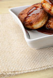 Fritters of cottage cheese with honey Royalty Free Stock Image