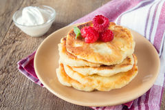 Fritters of cottage cheese Royalty Free Stock Photography
