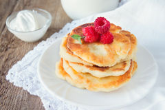 Fritters of cottage cheese Stock Photography