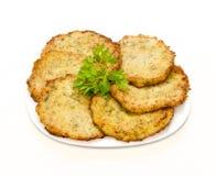 Fritters från grönsakmärg fotografering för bildbyråer