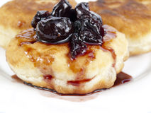 Fritters and jam Royalty Free Stock Images
