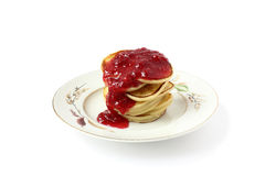 Fritters with jam Stock Photos