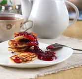 Fritters with jam Royalty Free Stock Image