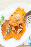 Fritters made ​​with pumpkin seeds sprinkled Royalty Free Stock Image