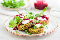 Fritters with quinoa Royalty Free Stock Photo