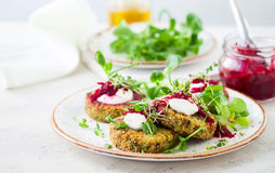 Fritters with quinoa stock image