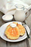 Fritters on rustic table Royalty Free Stock Photography
