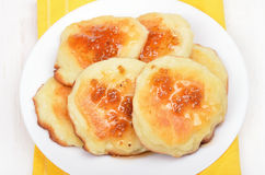 Fritters on white plate Royalty Free Stock Image