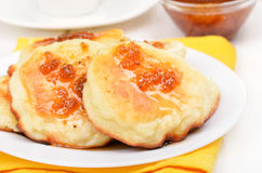 Fritters on white plate Royalty Free Stock Photo