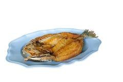 Frittierter Wolfsbarsch mit Fischsauce lizenzfreies stockbild