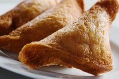 Frittiertes Brot mit Fleisch Stockbild