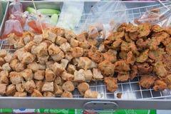 Frittiertes Krebsfleisch rollt für Verkauf Stockbild