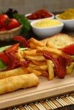 Fritto ed alimento di ingrassamento Fotografia Stock Libera da Diritti