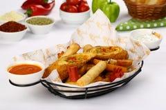 Fritto ed alimento di ingrassamento Fotografie Stock
