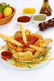 Fritto ed alimento di ingrassamento Immagine Stock