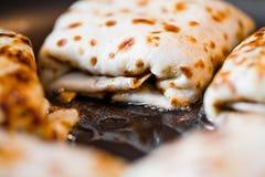 Frittura dei pancake fotografia stock