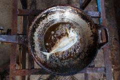 Frittura del pesce Immagini Stock Libere da Diritti