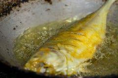 Frittura del pesce Fotografia Stock