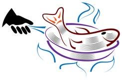 Frittura del pesce Immagine Stock