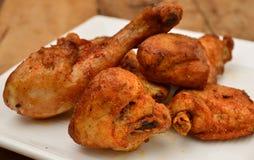 Frittura del pollo Fotografia Stock