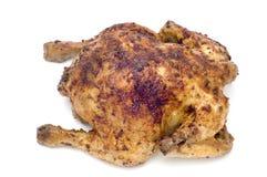 Frittura del pollo su bianco immagini stock
