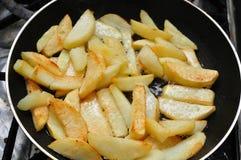 Frittura delle patate fritte Fotografia Stock