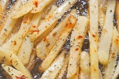 Frittura delle patate fritte Fotografia Stock Libera da Diritti